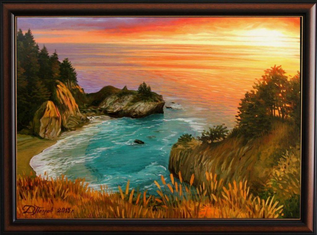 """""""В прегръдките на вечността"""" - маслени бои на платно 50х70 см. - (продадена) - картини за стена"""