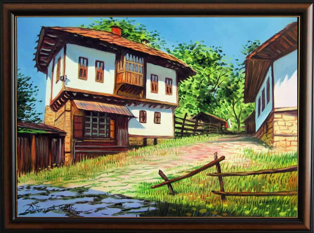 """""""В сърцето на България"""" - маслени бои на платно 70x50 см. - (продадена)"""