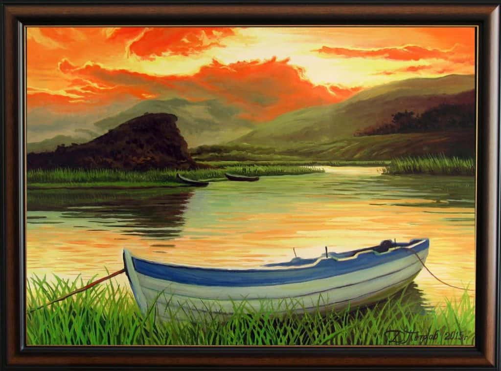 """Заслужена почивка"" - маслени бои на платно 50х70 см. - (продадена)"