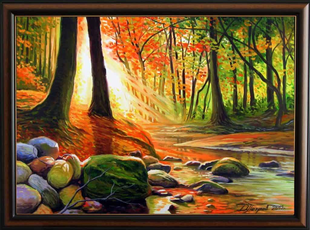 """""""Карнавалът на горските феи"""" - маслени бои на платно 50х70 см. - (продадена)"""