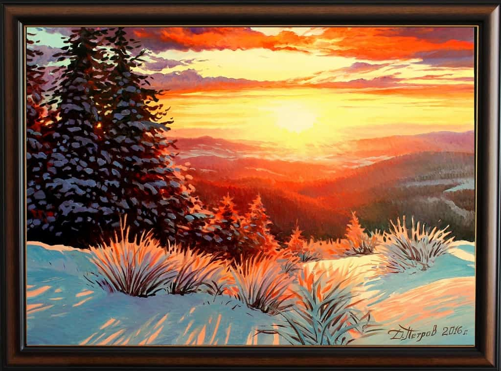 """Краят на едно ново начало"" - маслени бои на платно 70x50 см. -(продадена)"
