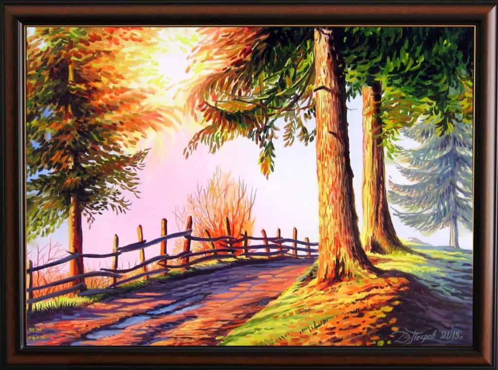 """""""Към Гората на еднорозите"""" - маслени бои на платно 50х70 см. - (продадена)"""