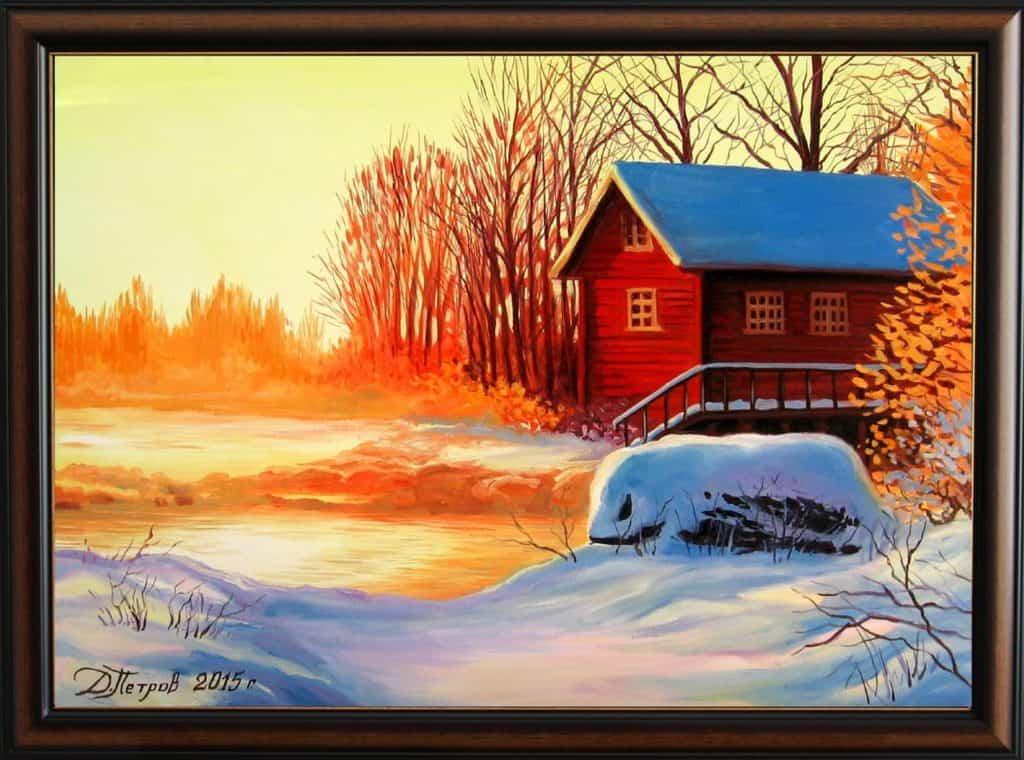 """""""Лъчите на надеждата"""" - маслени бои на платно 50х70 см. - (продадена)"""
