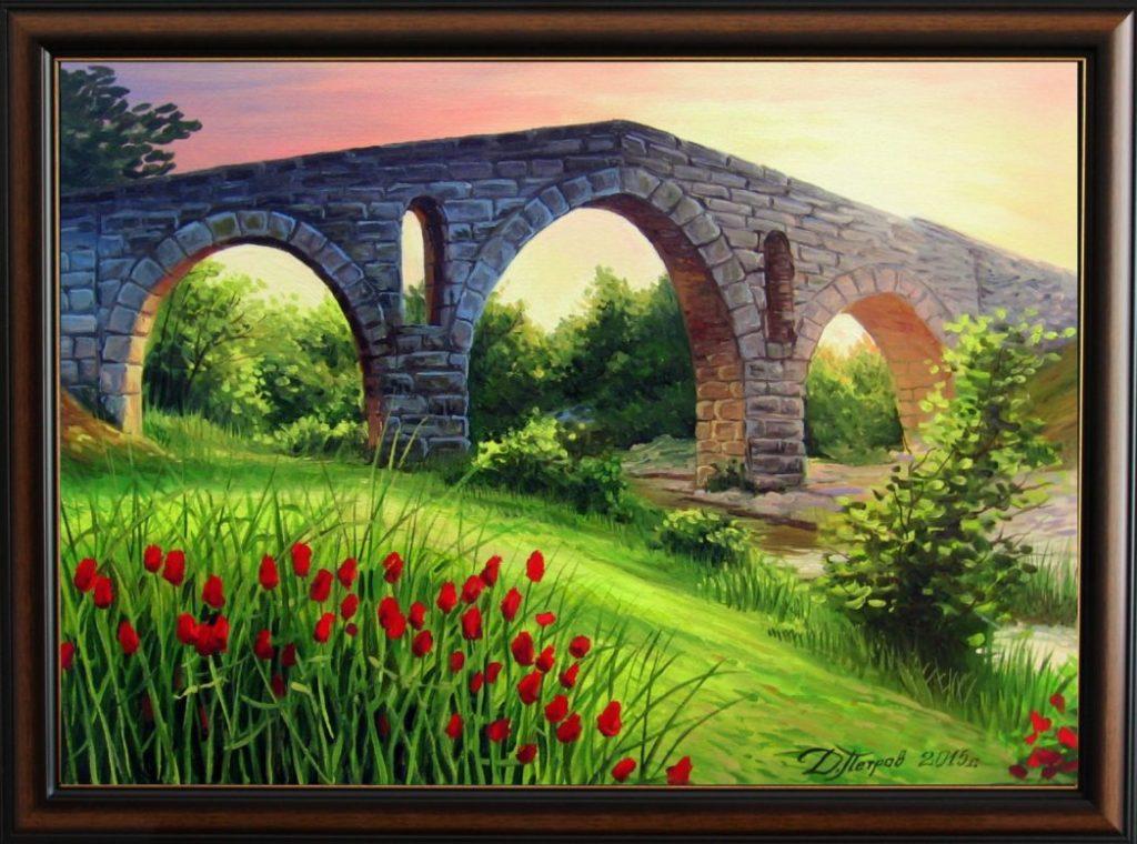 """""""Любов и благодарност"""" - маслени бои на платно 50х70 см. - (продадена)"""
