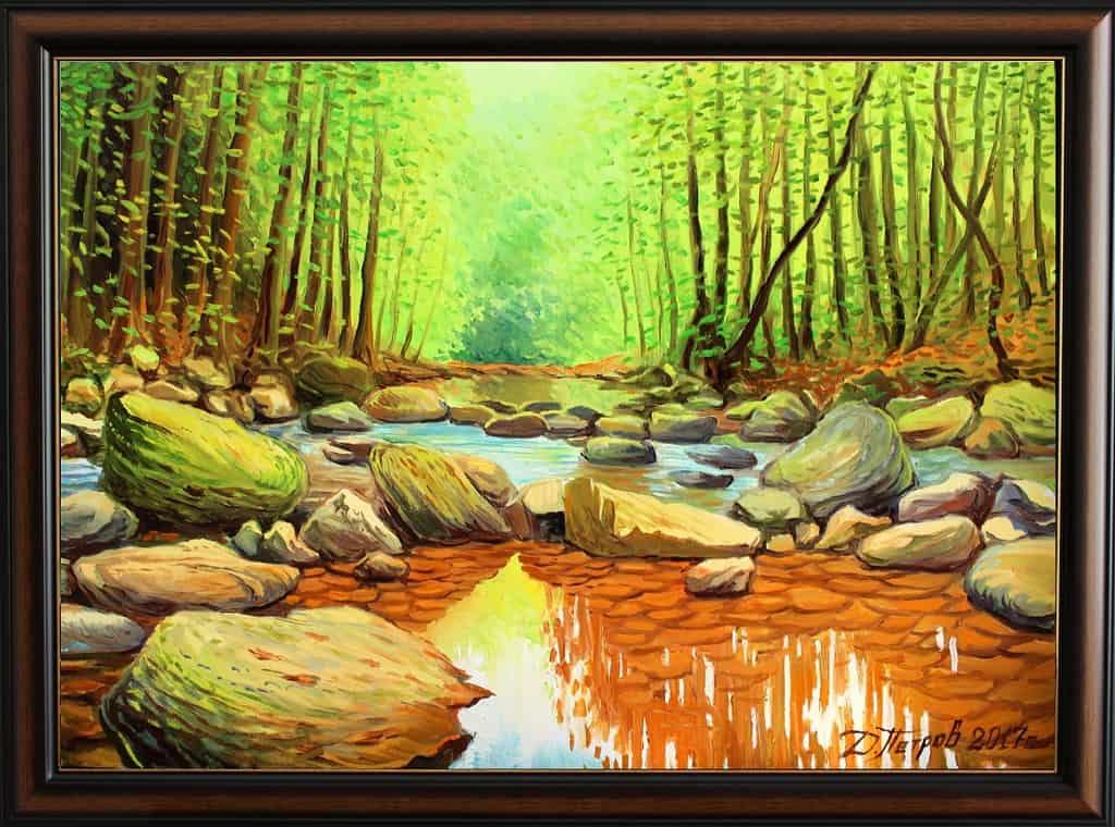"""Лятна прохлада"" - маслени бои на платно 70x50 см. - 480 лева - (продадена)"
