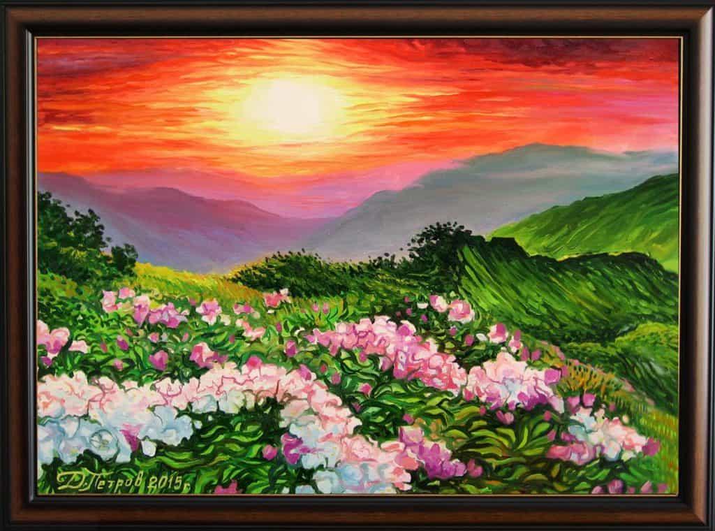 """""""Нежна прегръдка"""" - маслени бои на платно 70x50 см. (продадена)"""