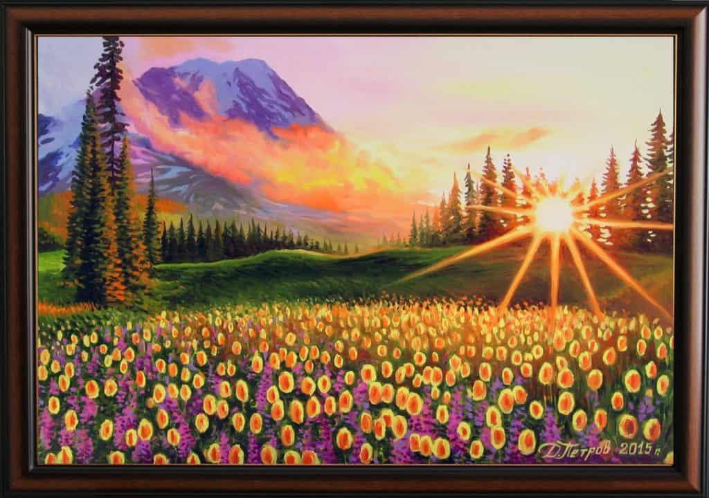 """""""Нежна топлина"""" - маслени бои на платно 60х90 см. - (продадена)"""