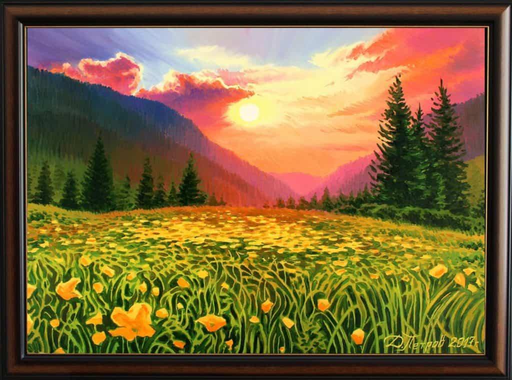 """""""Непреодолима страст"""" - маслени бои на платно 70x50 см."""