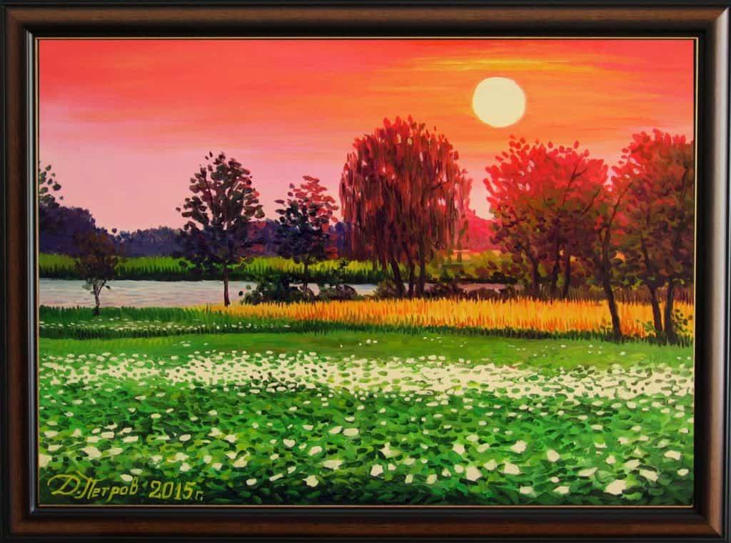 """""""Омагьосаната долина"""" - маслени бои на платно 50х70 см. - (продадена)"""
