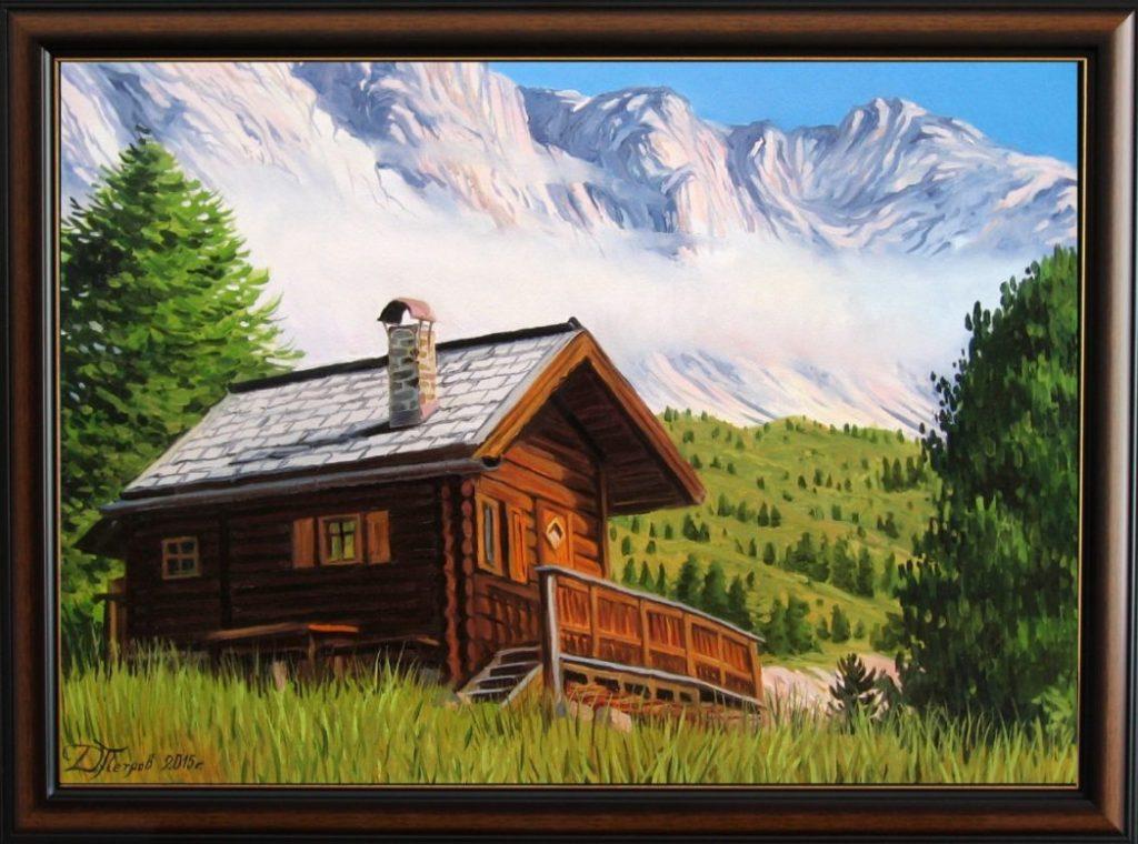 """""""Откровението на планината"""" - маслени бои на платно 50х70 см. - (продадена)"""