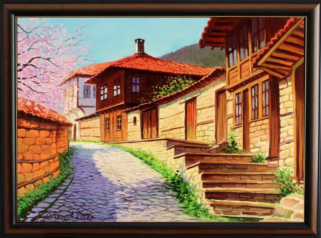 """""""Пролетна прохлада"""" - маслени бои на платно 70x50 см. -(продадена)"""
