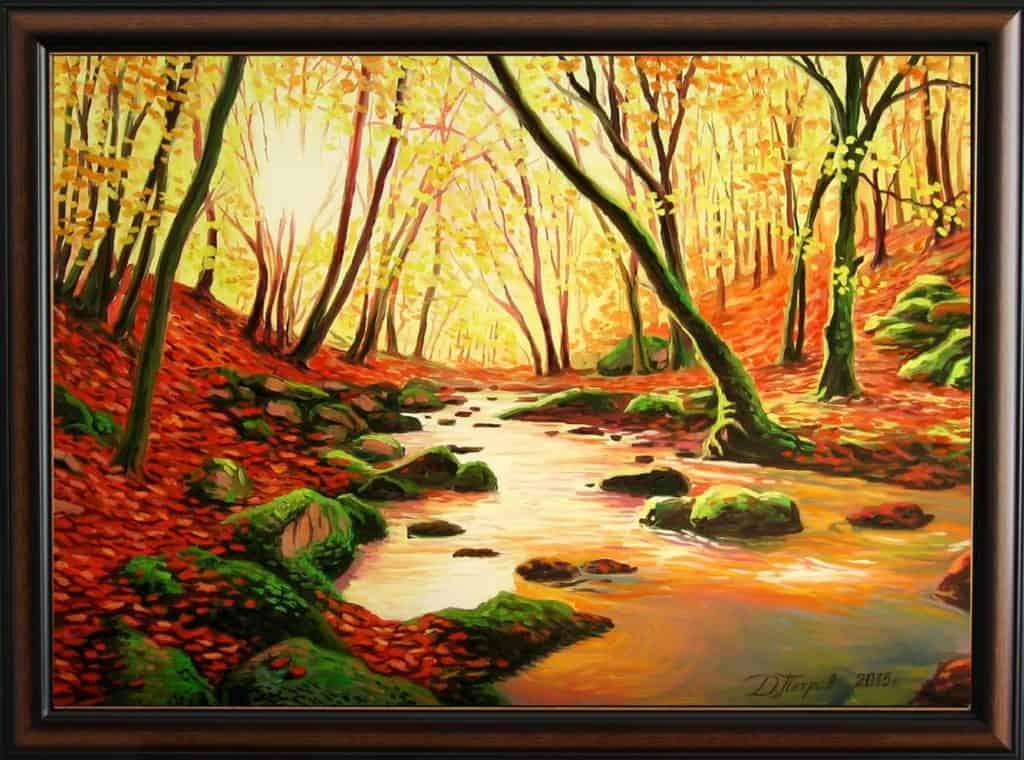 """Свещената гора"" - маслени бои на платно 50х70 см. - (продадена)"