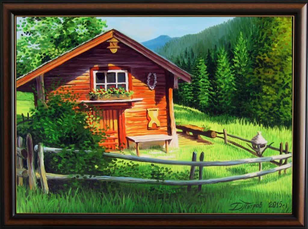 """""""Следобедна разходка в планината"""" - маслени бои на платно 50х70 см. - (продадена)"""