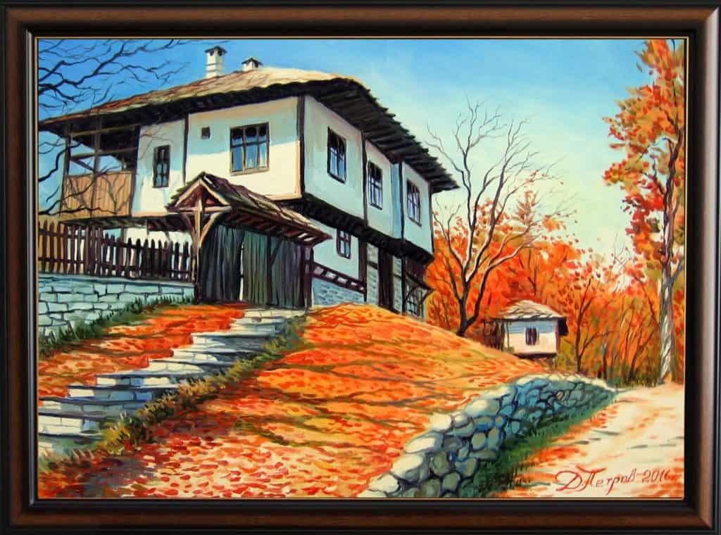 """Следобедна разходка""- маслени бои на платно 70x50 см. - (продадена)"