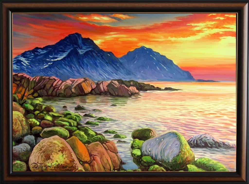 """Студени сърца"" - маслени бои на платно 70x50 см. - (продадена)"