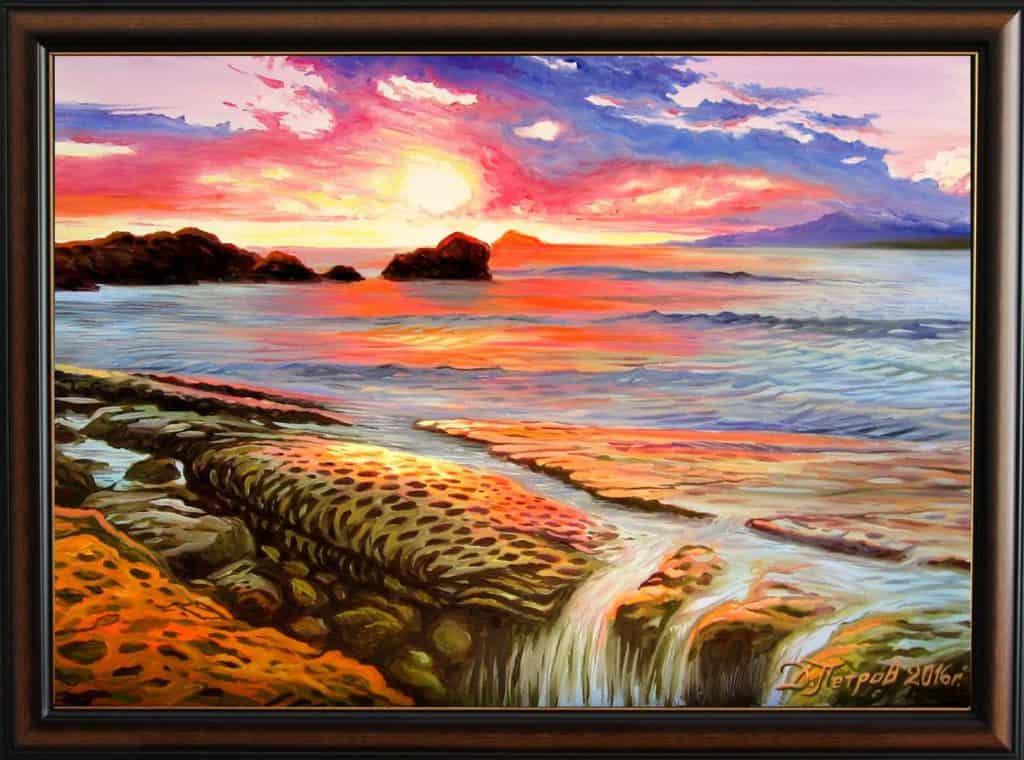 """""""Танцът на русалките"""" - маслени бои на платно 70x50 см. - (продадена)"""
