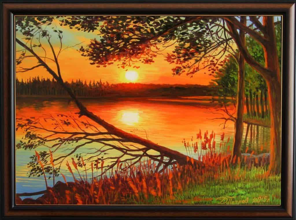 """""""Време за размисъл"""" - маслени бои на платно 50х70 см. - (продадена)"""