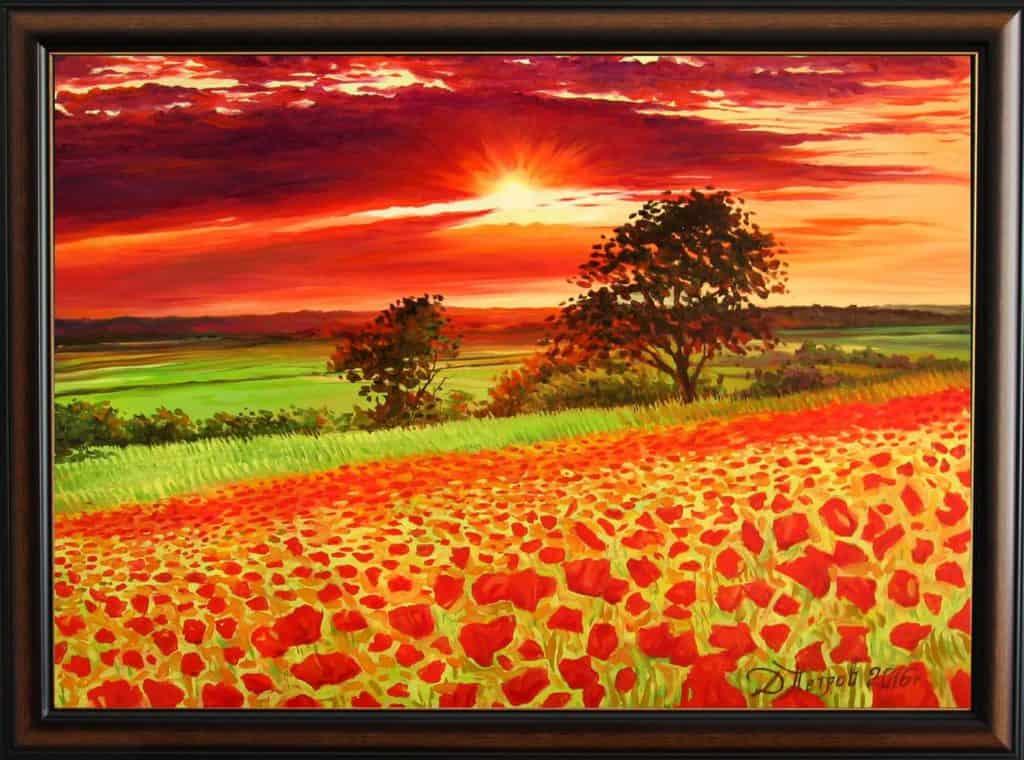 """В градината на подсъзнанието"" - маслени бои на платно 50x70 см. - (продадена)"