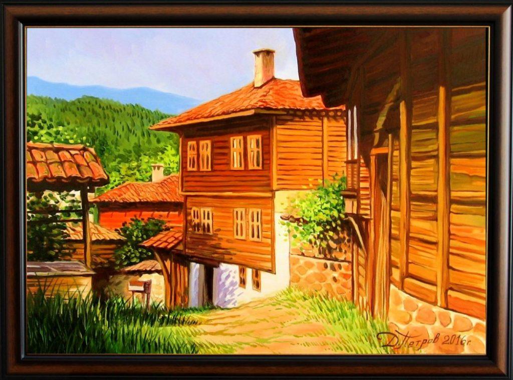 """Лятна прохлада в планината"" - маслени бои на платно 70x50 см. - (продадена)"