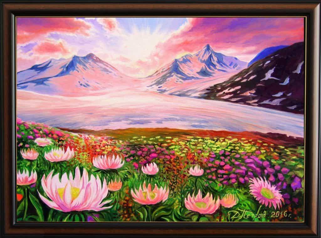 """""""Магията на живота"""" - маслени бои на платно 70x50 см. - (продадена)"""