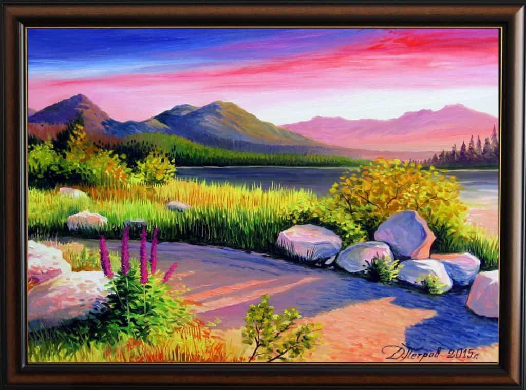 """""""Нежност"""" - маслени бои на платно 50х70 см. - (продадена)"""