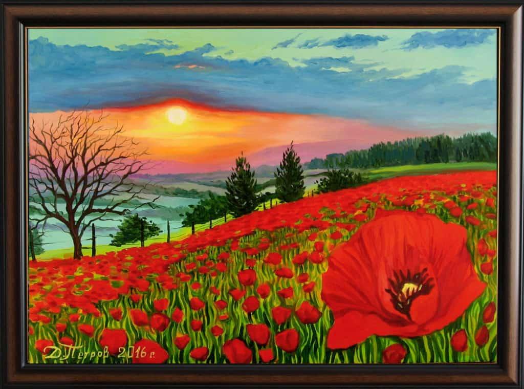 """""""Отдаденост"""" - маслени бои на платно 70x50 см. - (продадена)"""
