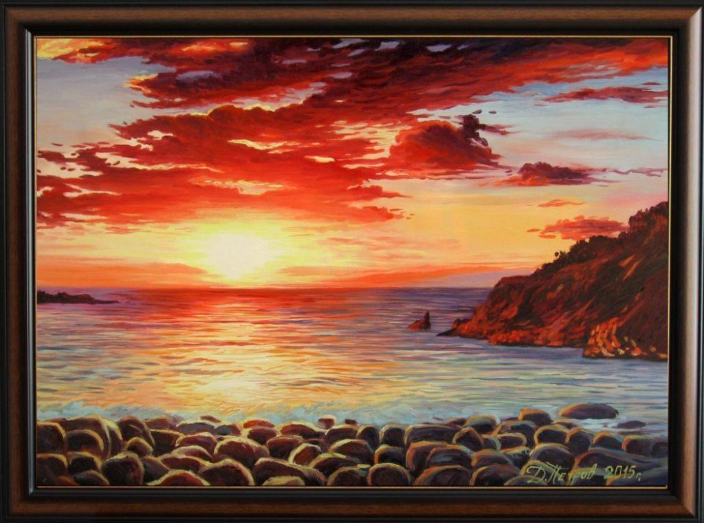 """""""Пламъкът на вярата"""" - маслени бои на платно 50х70 см. - (продадена)"""