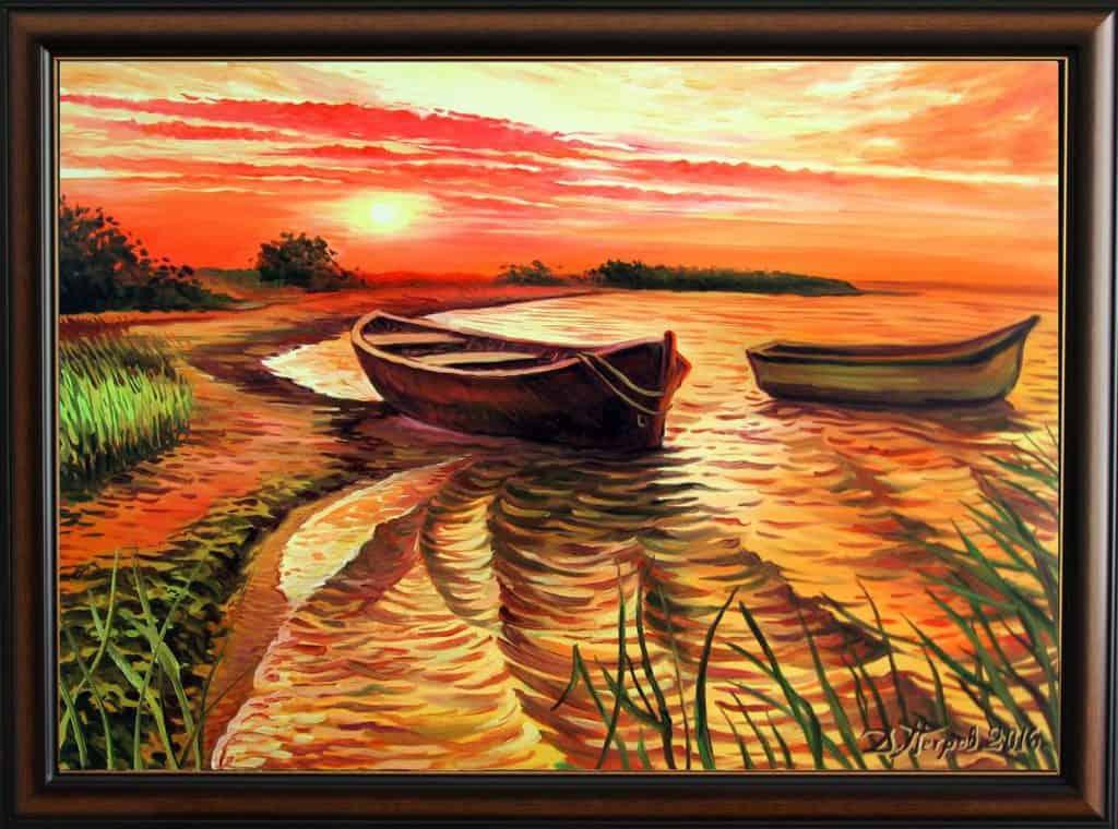 """""""Последният ден"""" - маслени бои на платно 70x50 см. - (продадена)"""