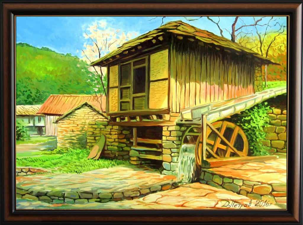 """Приказна илюзия"" - маслени бои на платно 50x70 см. - (продадена)"