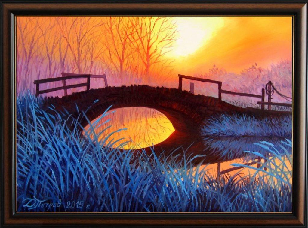"""""""Реката на изгубените души"""" - маслени бои на платно 50х70 см. - (продадена)"""