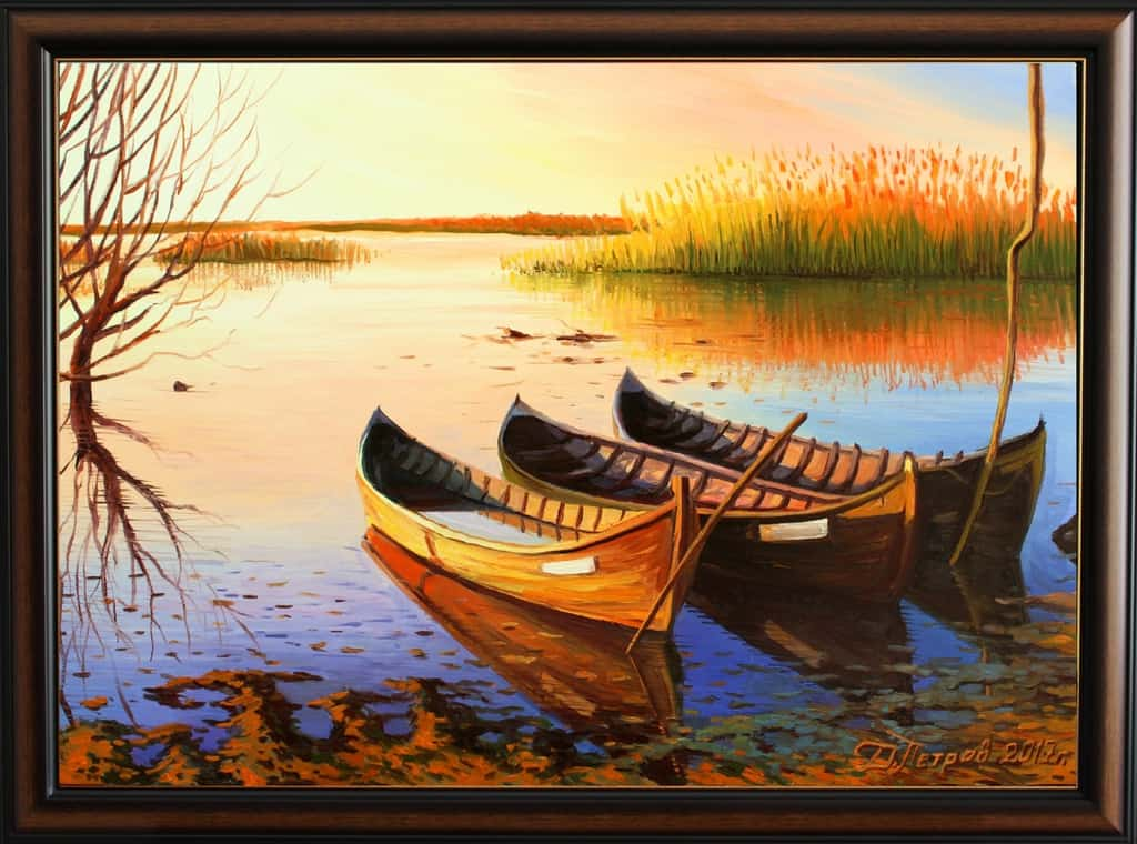 """""""Sacred River"""" - oil on canvas 70x50 cm. - 490 euro (reserved)"""