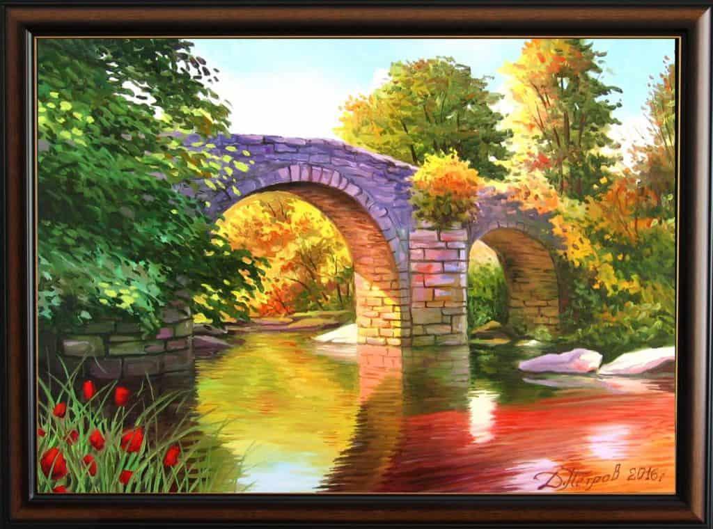 """""""Скритото съкровище""""- маслени бои на платно 70x50 см. - (продадена)"""