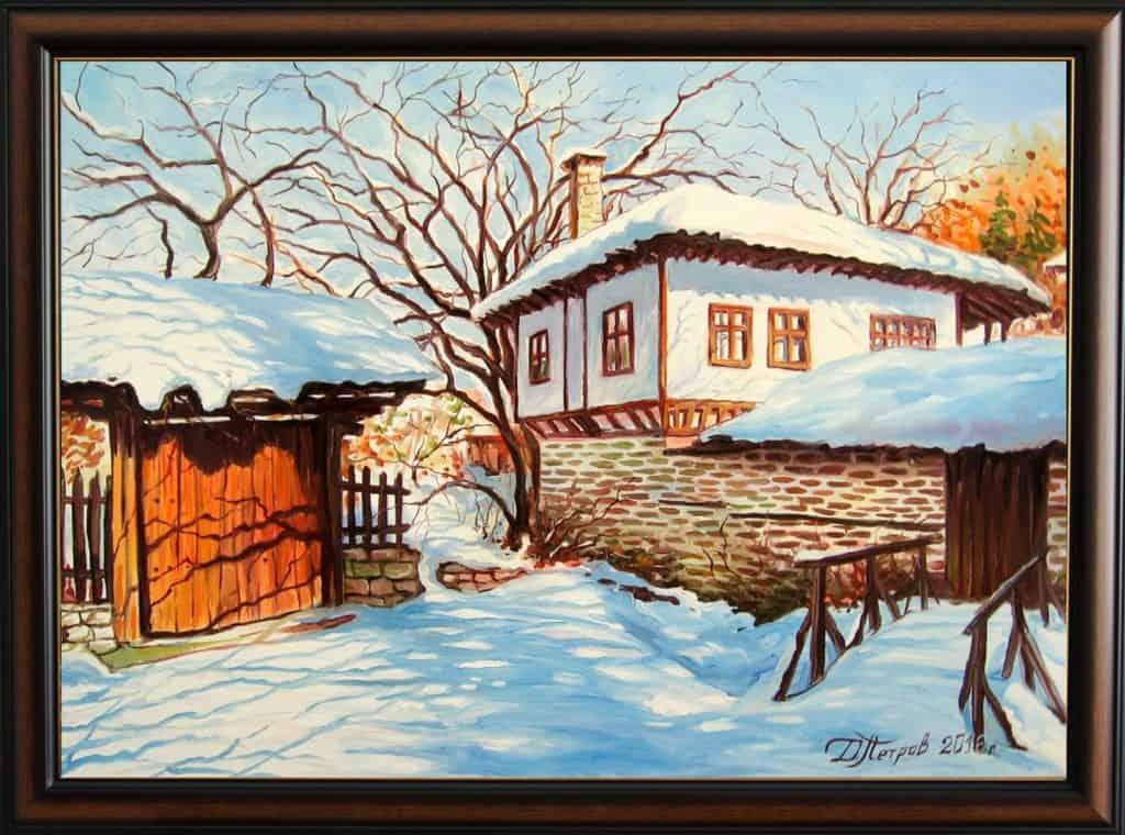 """""""Слънчевата усмивка на февруари"""" - маслени бои на платно 50x70 см. - (продадена)"""