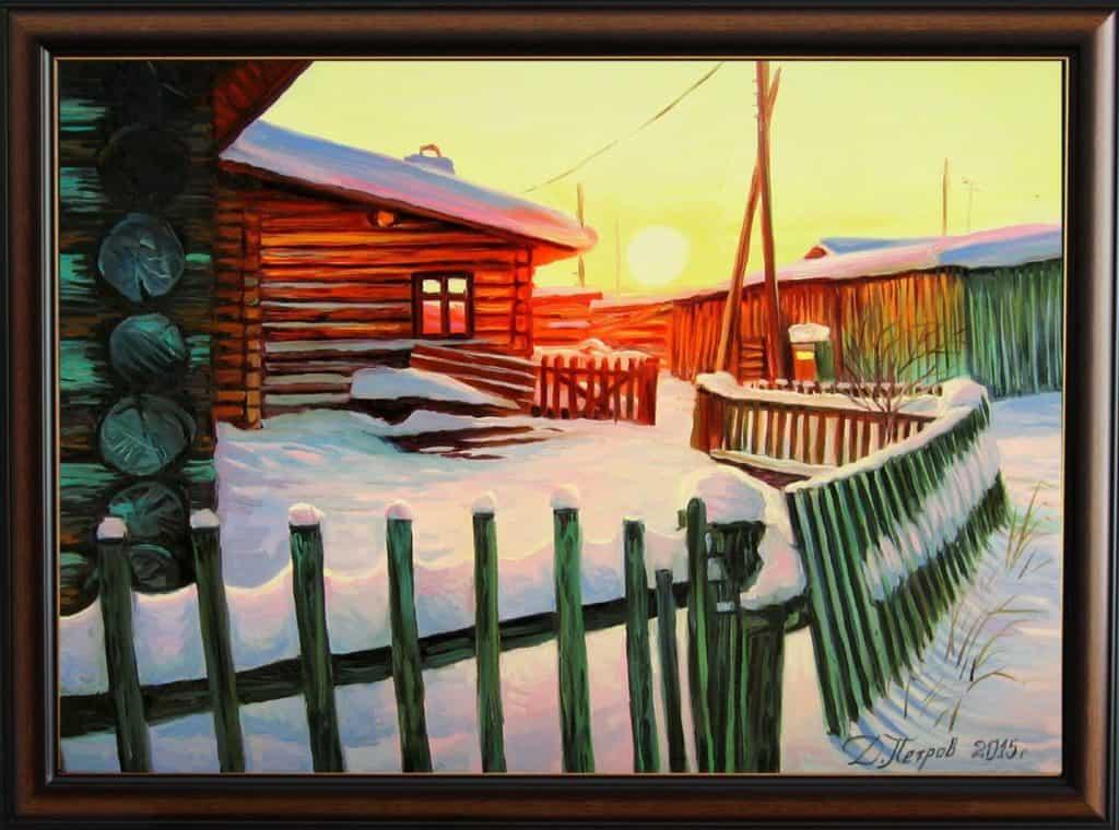 """""""Споменът за едно януарско утро"""" - маслени бои на платно 50х70 см. - (продадена)"""