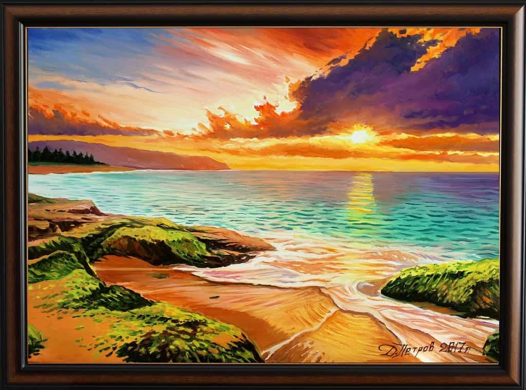 """""""Страст и копнеж"""" - маслени бои на платно 70x50 см. - (продадена)"""