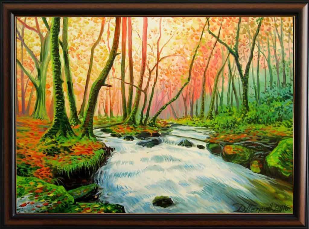"""""""Тайната на омагьосаната гора"""" - маслени бои на платно 50x70 см. - (продадена)"""