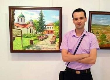 Дамях Петров - художник - пленер Севлиево 2016