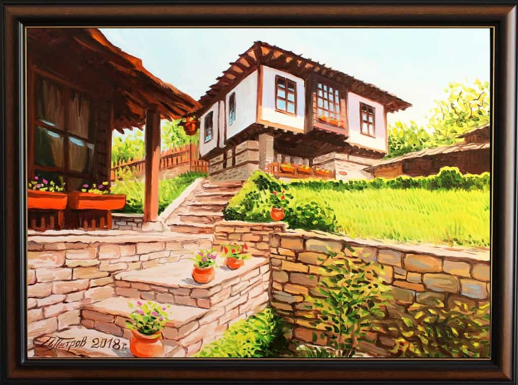 """""""Warmth and tranquility"""" - oil on canvas - 70 x 50 cm. - 390 euro"""