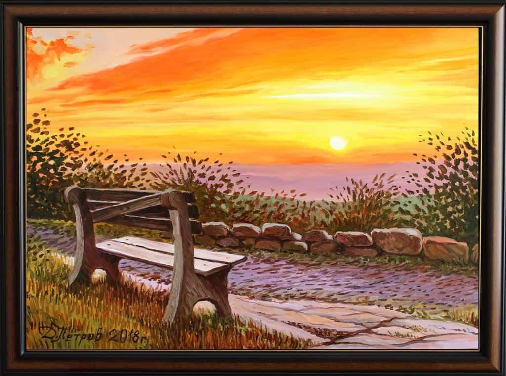 """After last hug"" - oil on canvas - 70 x 50 cm. - 290 euro"