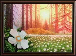 Вълшебното цвете от гората на еднорозите - картина