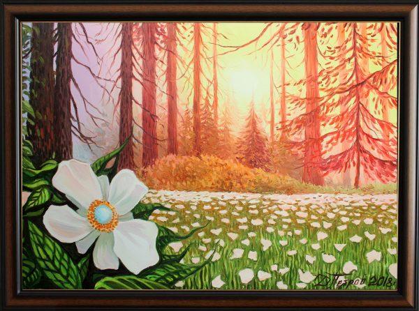 Вълшебното цвете от гората на еднорозите