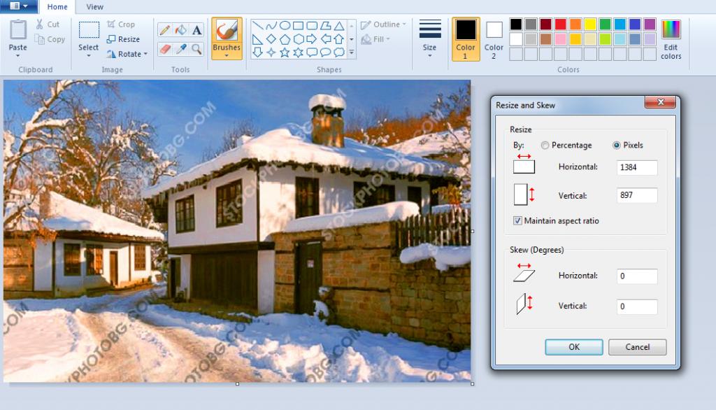 Промяна_на_резолюцията_с_Paint Как да изберем и обработим снимка за рисуване?