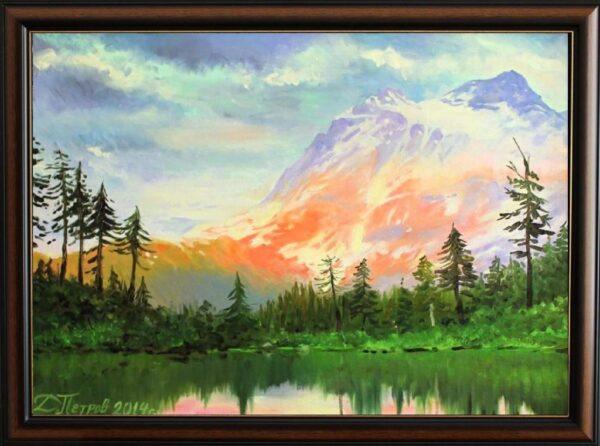 Спокойното езеро - картина