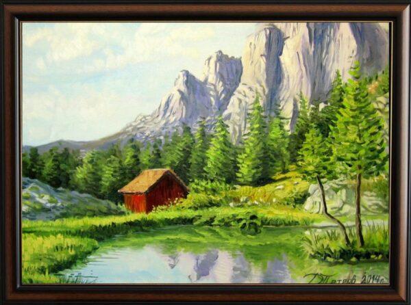Спокойствие в планината - картина