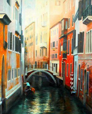 Една въздишка - Венеция - картина - 80 х 100 см.