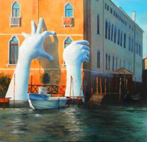 Подкрепа - Венеция - картина - 50 х 50 см.