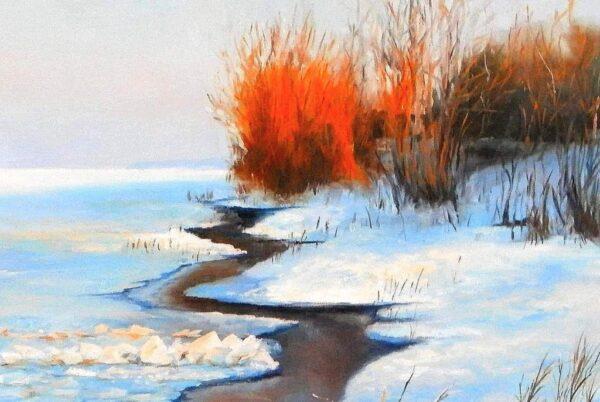 Замръзналия Дунав - картина - детайл 1