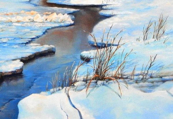 Замръзналия Дунав - картина - детайл