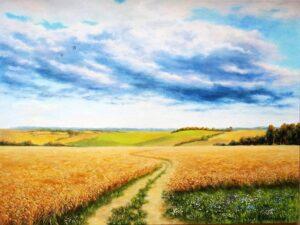 Пътека в полето - картина