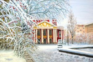 Ранен сняг в София - картина 1